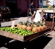 Gezichten van de Verkoper van de het fruitkar van Cuba royalty-vrije stock foto