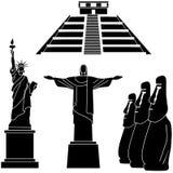 Gezichten van de wereldreeks Stock Afbeelding