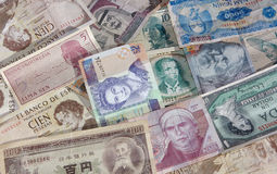 Gezichten van Geld stock foto's