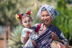 Gezichten van Myanmar stock afbeelding