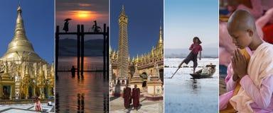 Gezichten van Myanmar - Birma Royalty-vrije Stock Fotografie
