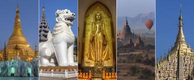 Gezichten van Myanmar - Birma Royalty-vrije Stock Foto's