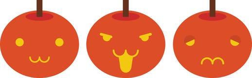 Gezichten van pompoenen vector illustratie