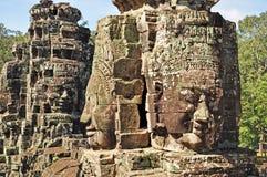 Gezichten van Tempel Bayon Royalty-vrije Stock Afbeelding
