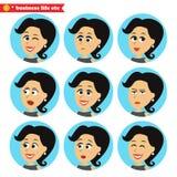 Gezichts geplaatste emotiespictogrammen stock illustratie