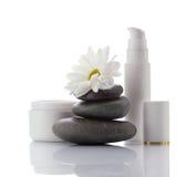 Gezichts kuuroord-schoonheidsmiddelen producten Stock Afbeelding
