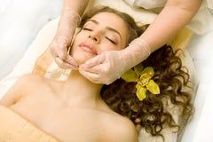 Gezichts lymfatische massage Stock Fotografie