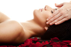 Gezichts massage Stock Foto's