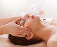 Gezichts Massage stock foto