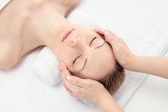 Gezichts massage Royalty-vrije Stock Foto's