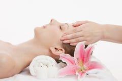 Gezichts massage Stock Afbeelding