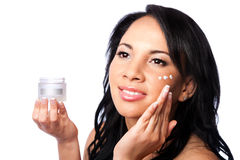 Gezichts schoonheid - skincare royalty-vrije stock afbeeldingen
