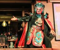 Gezichts veranderende prestaties in chengdu, China royalty-vrije stock afbeeldingen