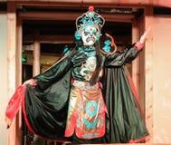Gezichts veranderende prestaties in chengdu, China royalty-vrije stock foto's