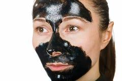 Gezichts zwart masker royalty-vrije stock afbeeldingen