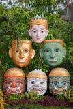 Gezichtsmasker van Thaise goden royalty-vrije stock fotografie