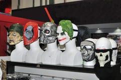 Gezichtsmaskers voor verkoop bij de Winkel Royalty-vrije Stock Afbeelding