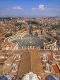 Gezichtsmening van Rome en de Stad van Vatikaan Stock Foto