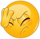 Gezichtspalm emoticon stock illustratie