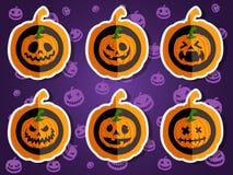 Gezichtspompoenen voor Halloween Stock Foto's