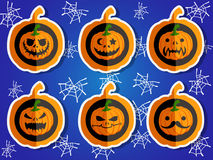 Gezichtspompoenen voor Halloween Royalty-vrije Stock Afbeeldingen