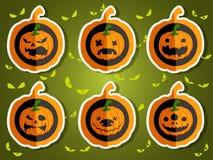 Gezichtspompoenen voor Halloween Stock Fotografie