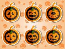 Gezichtspompoenen voor Halloween Royalty-vrije Stock Foto's