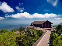Gezichtspunt bij het eiland Langkawi. Maleisië Stock Foto