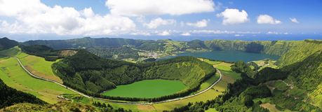 Gezichtspunt de Azoren - Panorama Stock Fotografie