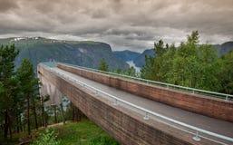Gezichtspunt Snovegen bij Aurlands-fjord royalty-vrije stock fotografie