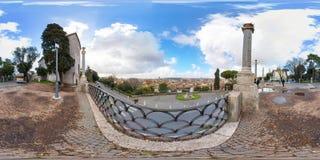 Gezichtspunt van Rome van Terrazza Viale del Belvedere Royalty-vrije Stock Foto's