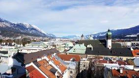 Gezichtspunten in Innsbruck Stock Afbeelding
