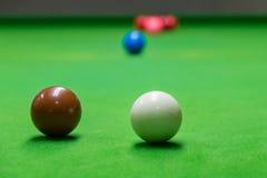 Gezien het openingsspel van snooker royalty-vrije stock foto's