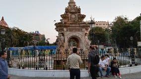 Gezien mumbaiavond van het fonteinplein stock fotografie