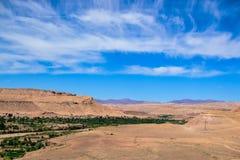 Gezien vanaf de bovenkant van een berberdorp Royalty-vrije Stock Foto's