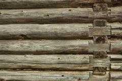Gezimmerter Wandhintergrund Stockfoto