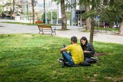 Gezipark in Istanboel, Turkije Stock Fotografie