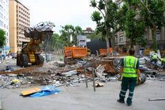 Gezipark van Istanboel van gemeente schoonmakend wegen Stock Fotografie