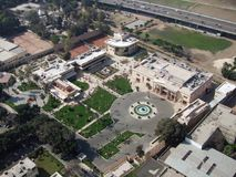 Gezira aerial view in sunny ambiance Royalty Free Stock Images
