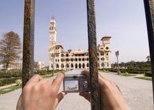Gezoem dat van Paleis al-Montazah is ontsproten Stock Foto