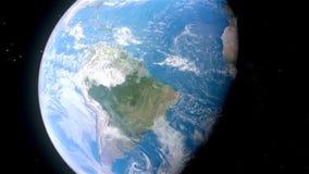 Gezoem en pan van Aarde in ruimte stock video