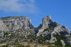 Gezoem op de bergen rond Marseille royalty-vrije stock fotografie