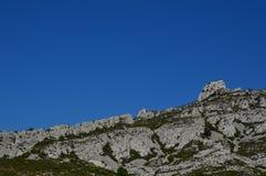 Gezoem op de bergen rond Marseille royalty-vrije stock foto
