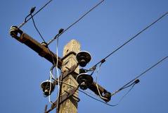 Gezoem van elektrische pijler Stock Afbeelding