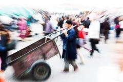 Gezoembeeld van Arabische mensen in Marrakech Royalty-vrije Stock Fotografie