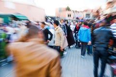 Gezoembeeld van Arabische mensen in Marrakech Royalty-vrije Stock Foto's