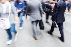Gezoembeeld van zakenlieden in de stad Stock Foto