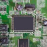 Gezoemeffect op microchip. Royalty-vrije Stock Afbeeldingen