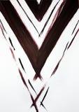 Gezogene diagonale breite und schmale Linien Harmonische Erschütterung des männlichen Anfanges vektor abbildung