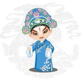 Gezogene Illustration Peking-Opern-Peking-Opern-Karikatur-chinesische traditionelle Art Hands stock abbildung